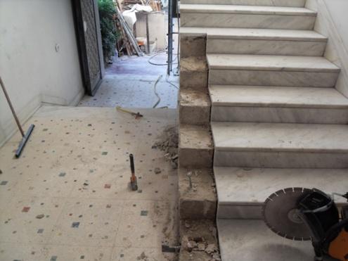 Taglio scale in un condominio